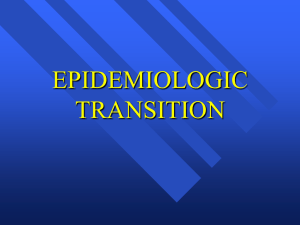 Epidemiologic Transition: Changes of fertility and