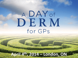 - A Day of… for GPs