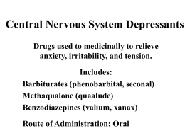 Central Nervous System Depressants