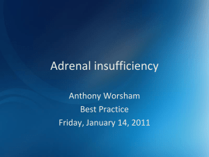 Adrenal insufficiency - UNM Hospitalist Group / FrontPage