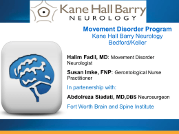 Movement Disorder Program - Kane Hall Barry Neurology