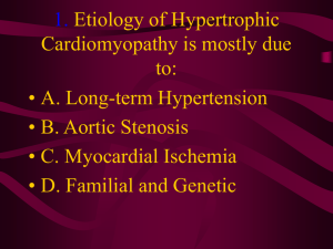 1. Etiology of Hypertrophic Cardiomyopathy is mostly due to: