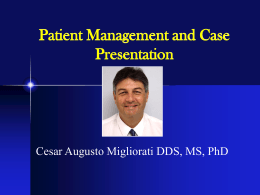 Patient Management and Case Presentation
