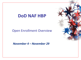 2014 Open Enrollment Presentation