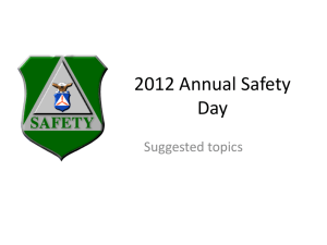 2012 Annual Safety Day
