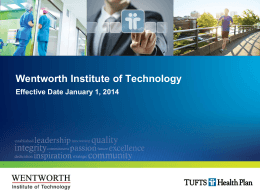 Tufts Presentation - Wentworth Institute of Technology