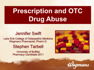 Prescription/OTC Medication Abuse