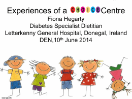 Experiences of a CHIOCE centre, Fiona Hegarty