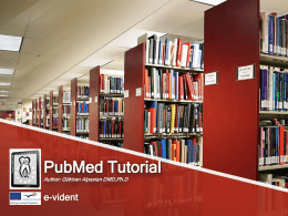 PubMed Tutorial
