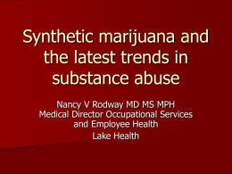 Synthetic marijuana and latest trends in substance abuse
