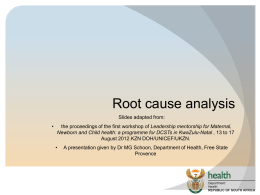 Root course analysis