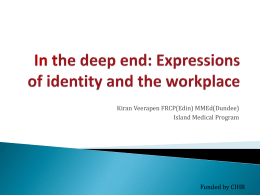 In the deep end: Expressions of identity and the workplace