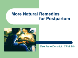 Natural Remedies for Postpartum