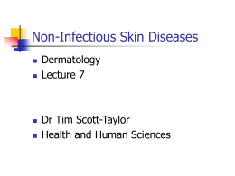 Skin rashes lecture