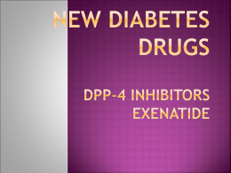New Diabetes Drugs