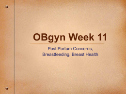 Post Partum & Breastfeeding