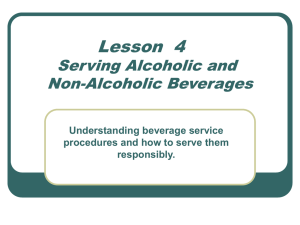 Beverage Service Procedures