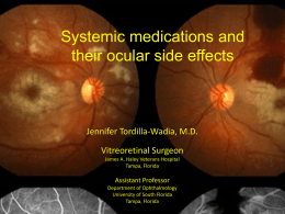 Systemic meds and ocular side effects revised