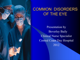 Common Disorders of the Eye - Central Coast Day Hospital