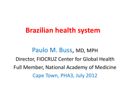 Brazilian health system - People`s Health Movement