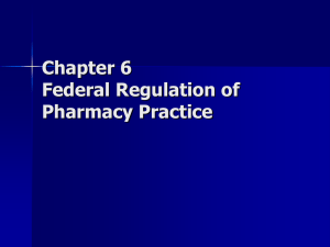 Pharmacy 151 Chapter 6