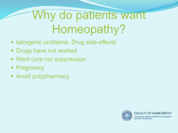 Hom-Intro-Year-1 - Faculty of Homeopathy