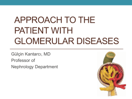 Approach to the patient with glomerular diseases