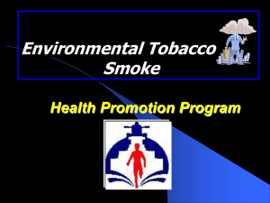 Environmental Tobacco Smoke - Corporate Wellness Programs