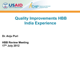 July 2012 HBB GDA Meeting - Puri
