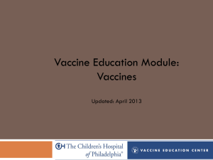 Vaccines Learning Module | Vaccine Education Center