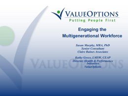 Engaging the Multigenerational Workforce Slides
