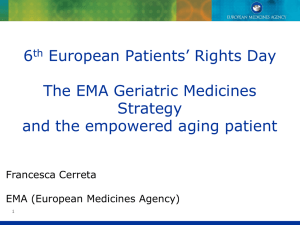 EMA Workshop on Medicines for Older People