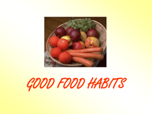 good food habits