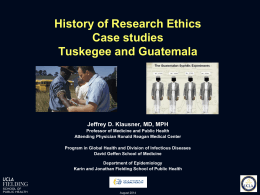 History of Research Ethics: Case Studies