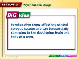 Psychoactive Drugs - Stamford High School
