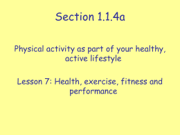 Lesson 7 Assessing Fitness Levels