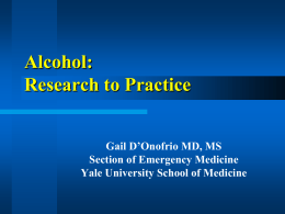 Alcohol Related Seizures - Yale School of Medicine