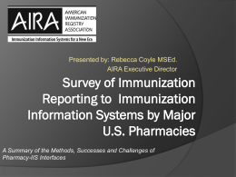 Survey of Immunization Reporting to Immunization Information