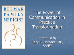 Slide 1 - Colorado Academy of Family Physicians