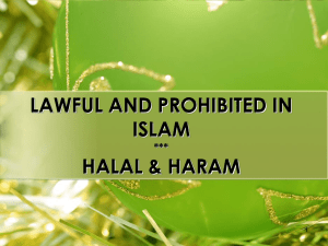 Helal Haram In Islam In Brief Explanation