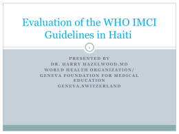 WHO IMCI Guidelines