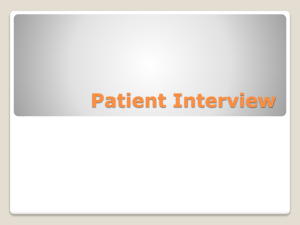 Patient Interview