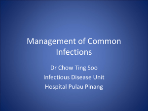 Management of Common Infections