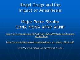 Illegal Drugs & Anesthesia