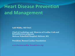 Heart Disease Prevention slides