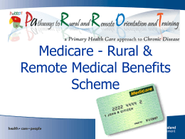 Medicare RRMBS - Queensland Health