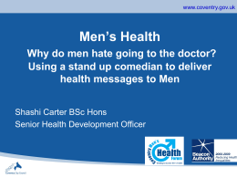 S Carter - Why do men hate going to the doctor?