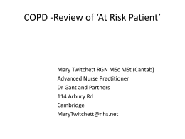 COPD at risk - short version - Cambridgeshire and Peterborough CCG