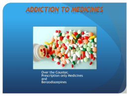 Steve Brinksman - Addiction to medicines
