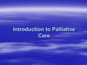 1.2 Introduction to Palliative Care